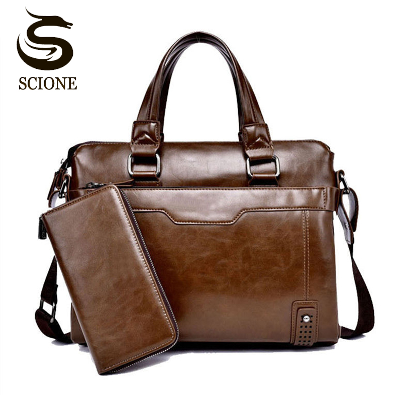 Mens Business Briefcase Bag High Quality Leather Messenger Handbag Men Crossbody Bags Male Travel Laptop Bag Shoulder Tote Bags high quality authentic famous polo golf double clothing bag men travel golf shoes bag custom handbag large capacity45 26 34 cm