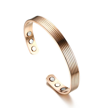 Women health magnet magnetic therapy open bangle bracelet cuff