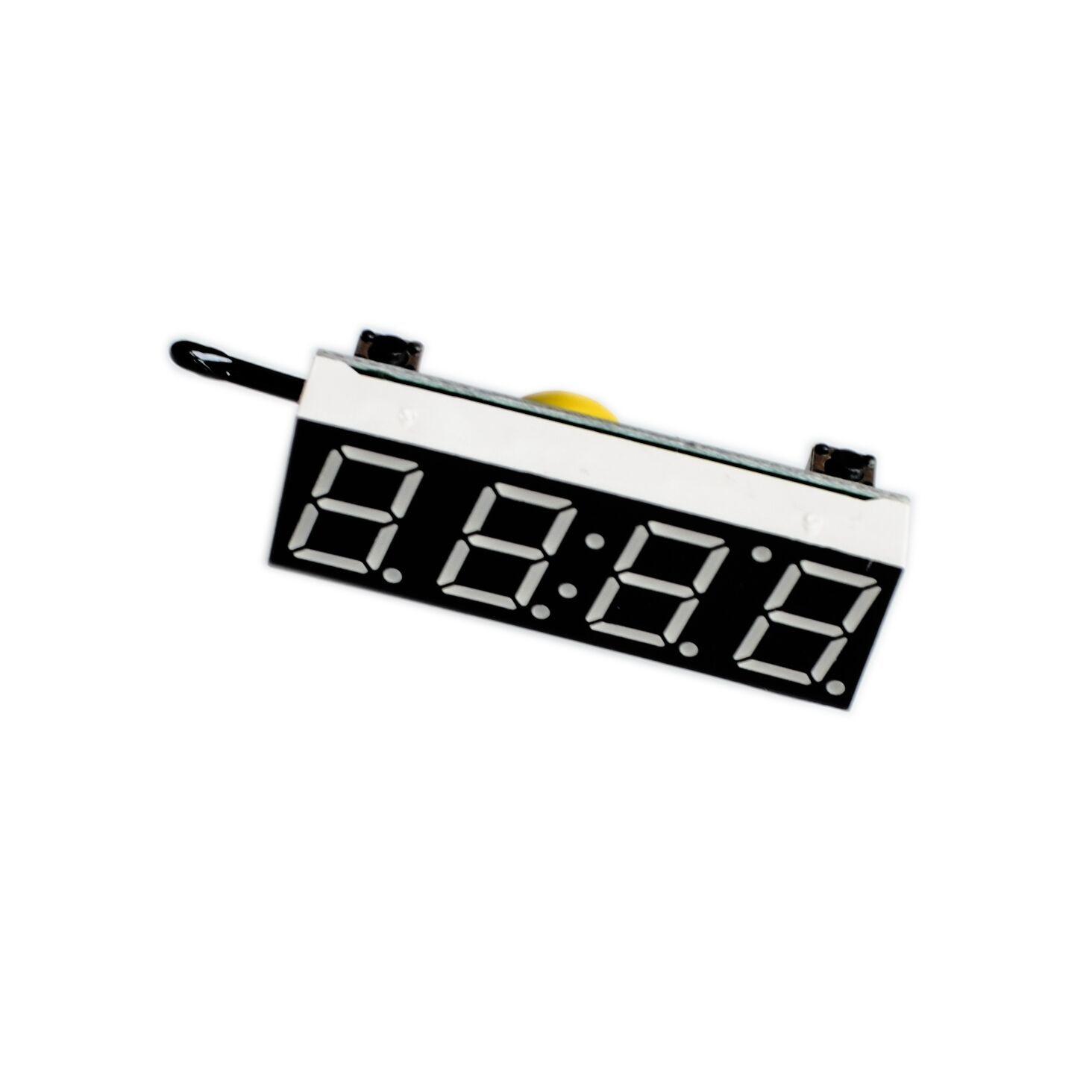 3 in 1 diy digital clock temperature voltage kit r8205 5 30v dc electronic red blue green led