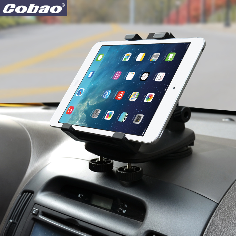 "imágenes para Cobao universal tablet pc soportes para 7 ""8"" 9 ""10"" dashbo tablet pc car mount soporte del sostenedor del soporte de la tableta para ipad mini 2 3 4"
