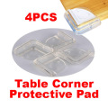 4pcs/lot Baby Safety Corner Silicone Baby Safe Corner Protector For Table Edge Desk Corner Guards