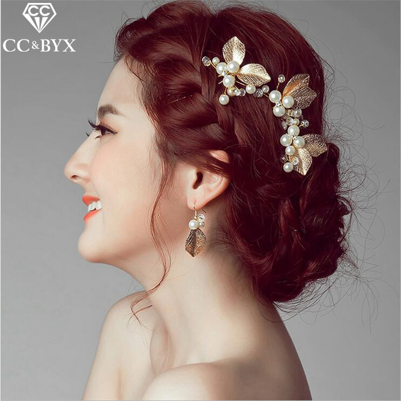 CC Hairpins Hair Sticks Crystal Pearl Butterfly Wedding Hair Accessories For Women Beach Party Bride Bridemaides Jewelry 2608