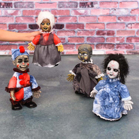 Halloween Horror Toys Small Walking Baby Dolls Horrifying Electric Toys Cute Glowing Halloween Decoration Gift for Friend