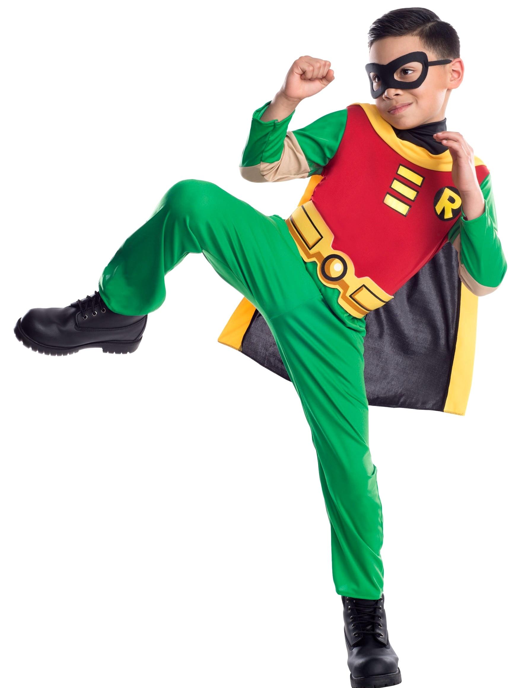 Young Justice Teen Titan Batman Tim Drake  Robin 3-10years Kids 4pcs/1set Damian Wayne Cosplay Costume Halloween Uniform Custom