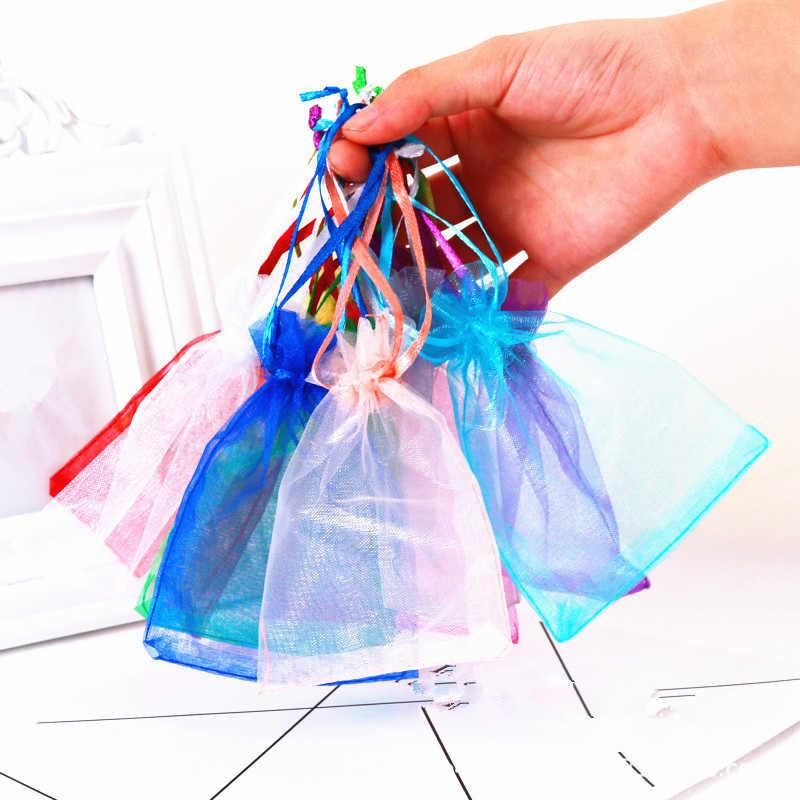 10pcs 15x20 17x23cm 20x30cm Organza Sacos de Jóias Saco de Organza Embalagem Jóias bolsas saco de Jóias Organza Sacos de Presente de Natal