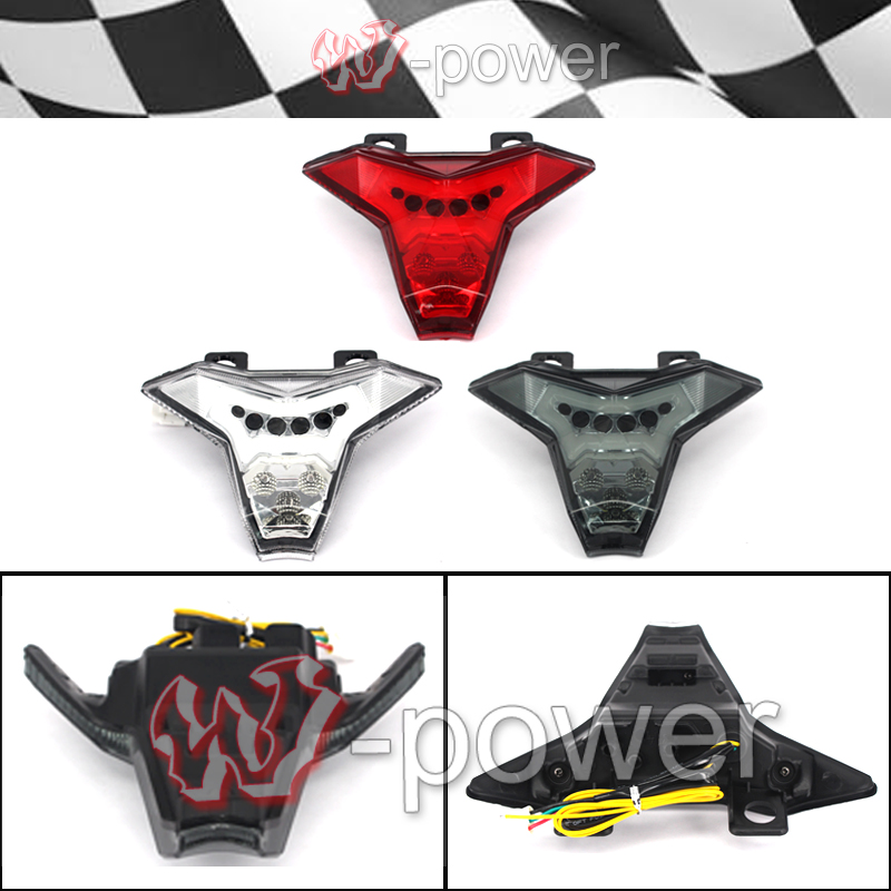 ФОТО fite For KAWASAKI Z1000 2014 2015 2016, ZX10R ZX-10R NINJA Motorcycle Integrated LED taillight brake indicator Blinker lamp