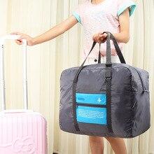 Avión de viaje bolsa de almacenamiento de ropa armario organizador titular de maquillaje plegable impermeable grande maleta equipaje bolsa de Mudanzas