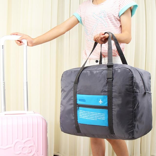 HAOCHU Airplane Travel Clothing Storage Bag Closet Organizer Makeup Holder  Folding Waterproof Suitcase Luggage House Moving