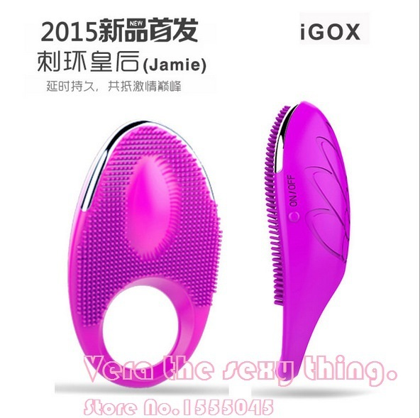 IGOX 20 Speed clitoris Vibrating delay ejaculation penis cock ring Silicone Rechargeable,Sex Toys Adult Sex Products for couple