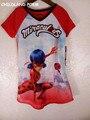 2017 ropa de verano para niños mariquita niños t-shirt muchachas de la historieta muchachos camiseta de algodón ropa de los niños niñas top adolescentes ropa
