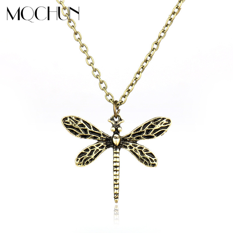 MQCHUN Game Of Thrones Necklace Song Of Ice And Fire Sansa Stark Vintage Dragonfly Pendant Necklace For Women Wedding Party Gift