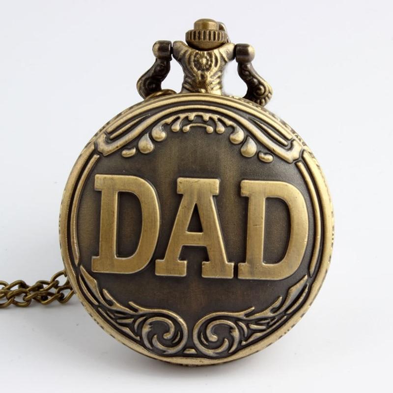 The Greatest Dad Quartz Pocket Watch With Flip Fob Chain Father Birthday Gifts Relogio Masculino Reloj De Bolsillo Para Padre