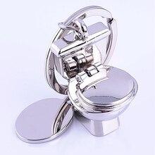 Vender bien baño clave anillo Mini cadena clásico 3D llavero baño lindo creativo regalo baratija nuevo diseño Vintage