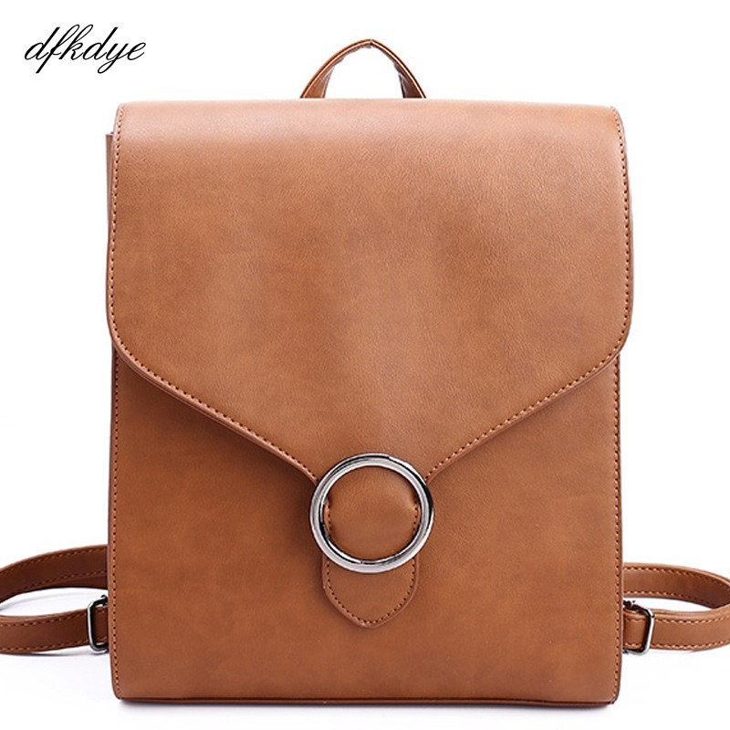 Woman Students Back Pack Fashion Women Pu Leather Backpack Bagpack Backpacks For Teenagers Girls Schoolbags Female Designers