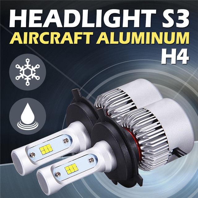 2x H4/H7/H11/H13/9006/9005 Car Headlight CSP Cree Chips 72W 8000lm 6500K All In One Car LED Headlights Bulb Head Lamp Fog Light