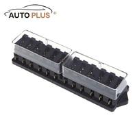 Universal Car Truck Vehicle 12 Way Circuit Automotive Middle Sized Blade Fuse Box Block Holder