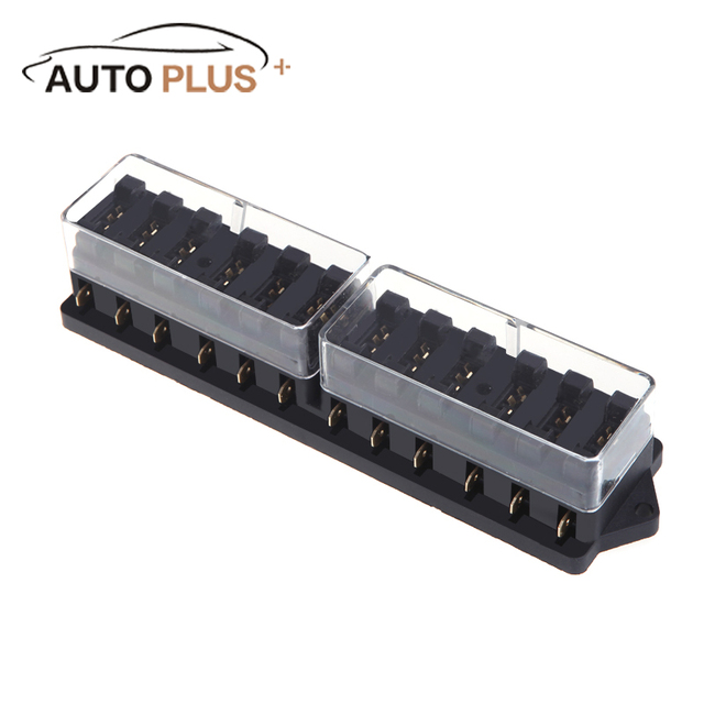 universal car truck vehicle 12 way circuit automotive middle-sized blade  fuse box block holder
