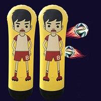 New 1.6m Inflatable Goal Keeper Tumbler Football Training Air Soccer Train Dummy PVC Tumbler Wall free shipping