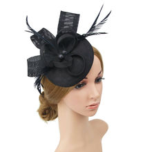 Женская Свадебная вечерняя сетчатая повязка на голову, Цветочная шляпа, очаровательные шапки