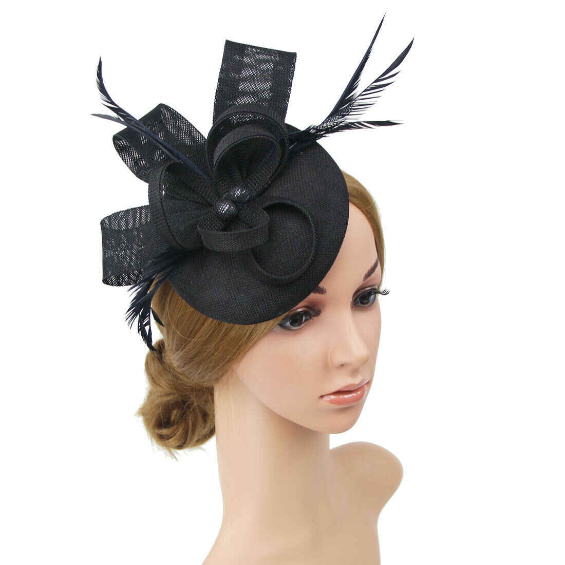 Ladies Women Wedding Evening Party Mesh Headband Flower Hat Fascinator Caps