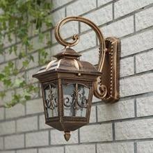 Waterproof Aluminium Die-casting Porch Light Outdoor Wall Lamp Never Rust Cottage Antique Garden Yard Aisle Street Lights Bronze