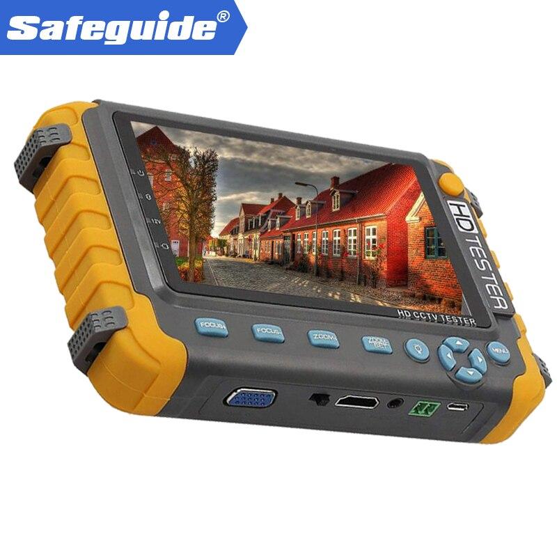 2018 Atualizado IV8W 5 polegada CCTV Monitor Tester 5MP 4MP CVI TVI AHD Câmera de Segurança Tester Suporte CVBS Áudio PTZ VGA