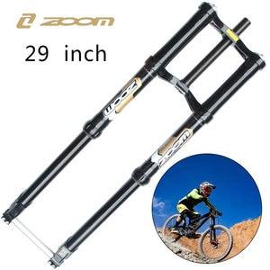 Image 1 - ZOOM Fahrrad Gabel 29 Zoll 1200 DH FR Gabeln Vorne Bike Suspension 250mm Reise Gabel Rockshox Downhill