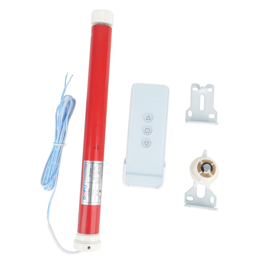 1 set moteur tubulaire 12 V électrique rideaux rouleau bricolage électrique rouleau store moteur Kit avec télécommande accessoires pour la maison