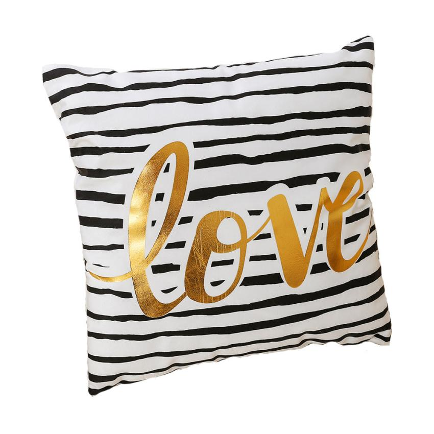 Bronzing Printing Soft Plush Pillowcases Bedding Throw Pillow Case Decorative Pillows For Sofa Seat Cushion Cover Home decor
