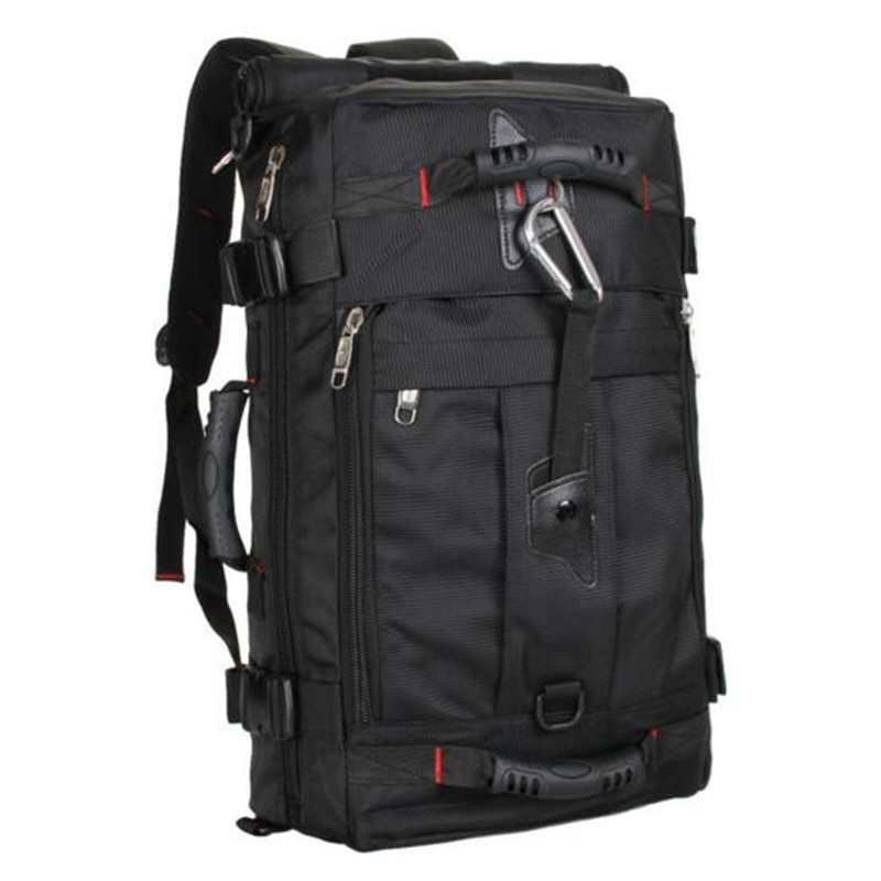 ФОТО Men's bags new nylon black backpack mochila notebook laptop high grade large capacity backpack fashion leisure laptop bagLY0053A