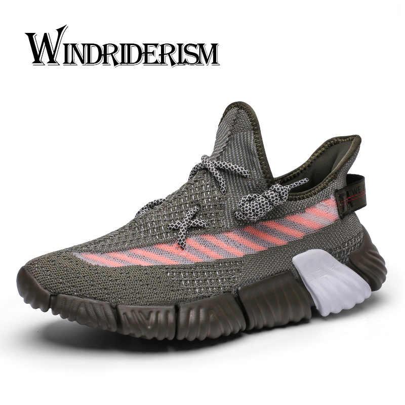 6ce6574f24c Nueva llegada de moda Zapatillas de deporte de los hombres de Flyknit  tecnología Zapatos Para Correr