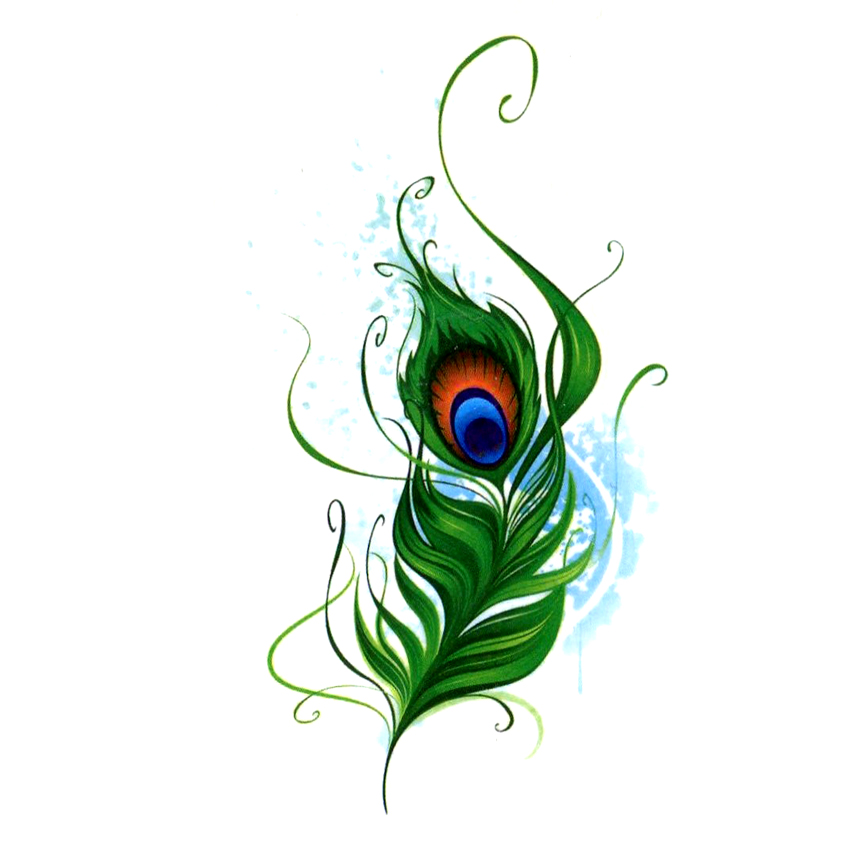 Tattoo Flash Wallpaper By Feathr: Peacock Feathers Waterproof Temporary Tattoo Sticker Fake