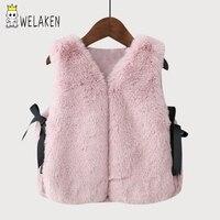 WeLaken Baby Girls Imitation Fur Vest Children Clothing Autumn Winter Coat 2017 New Arrival Kids Waistcoat