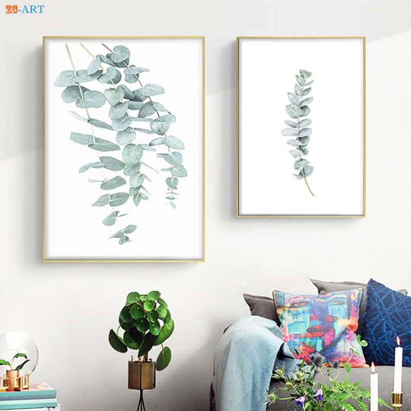 Wall Prints For Living Room Australia Beautiful Rooms Decorations Eucalyptus Plant Leaf Print Poster Botanical Art Minimalist Canvas Painting Pictures Home Decor My Life Style Shop