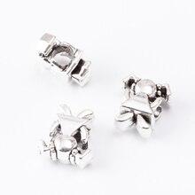20pcs Scattered beads Tibetan silver jewelry alloy fit Chamilia bracelet DIY js2024