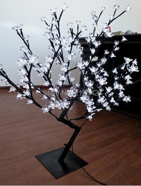 Artificial Led Bonsai Cherry Blossom Tree Light Holiday Lighting Indoor Christmas 160 Leds 0 8m 31 5 White Free Shipping