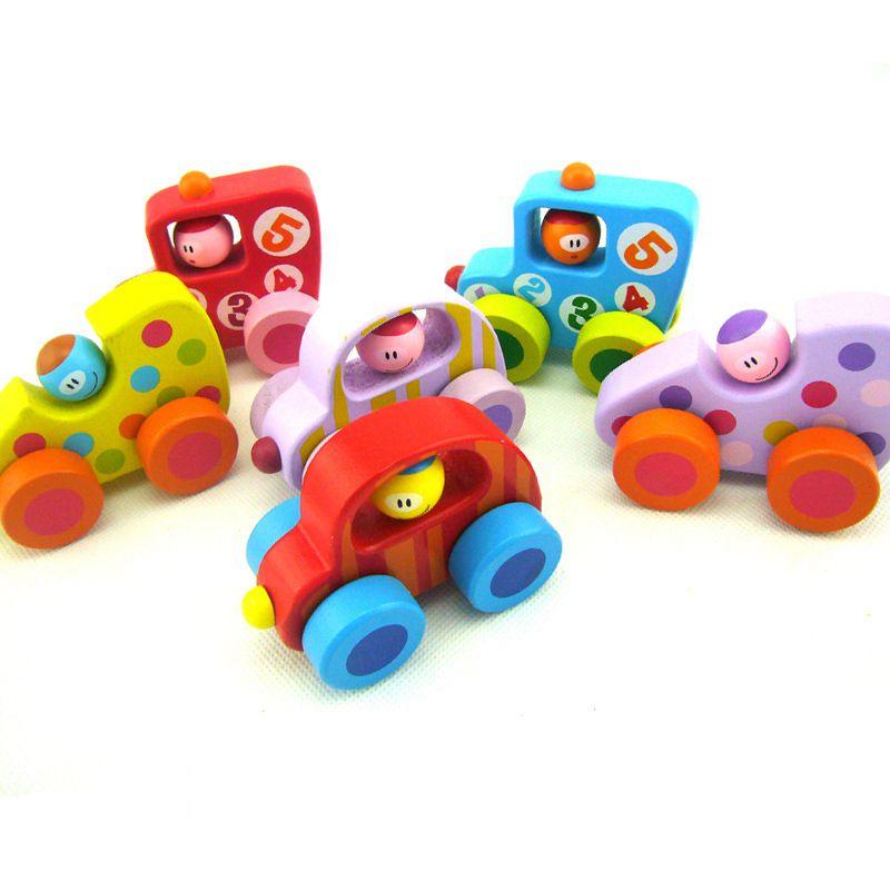 Wardy mini car baby wood toys cute green car 1-2-3 year old school boy gift early education teaching aids