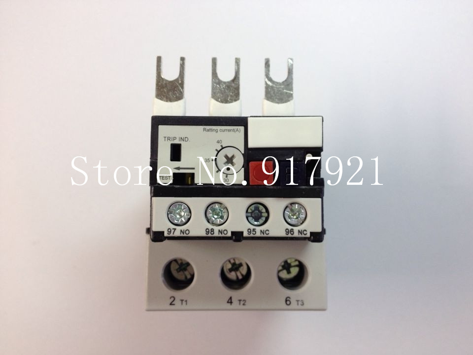 [ZOB] Hagrid EWT140C thermal overload relay 30-40A imported three-phase overload protection --2pcs/lot adjustable overcurrent protection three phase thermal overload relay 24 36a