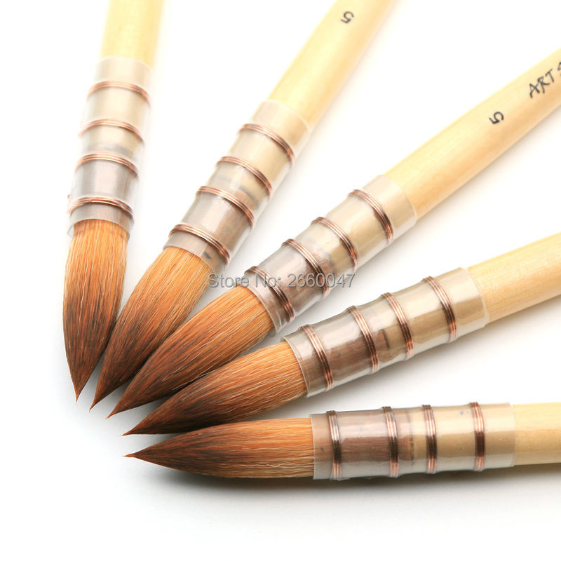 15RT Fine Art Paint Brush Taklon Hair Short Wooden Handle High Quality Watercolor & Acrylic brush 15RT Fine Art Paint Brush Taklon Hair Short Wooden Handle High Quality Watercolor & Acrylic brush