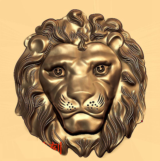Lion 3D Model In STL File Sculpture For CNC Router And