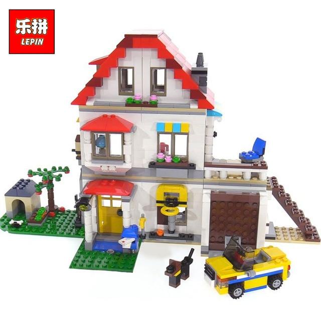 Lepin 24046 New Toys 815Pcs Creative Series The Legoing 31069 Family Villa Set Model Building Blocks Bricks Toys Kids Gifts