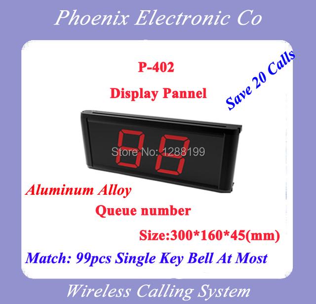 Rendimiento estable Sistema de Paginación Restaurante Wireless pantalla LED P-402, Nuevo Diseño, Envío Libre de DHL