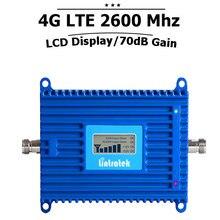 4g LTE Repetidor 4g LTE Banda 2600 7 Teléfono Celular Amplificador de Señal de 70dB Repetidor Móvil Celular de Control Automático De Nivel amplificador