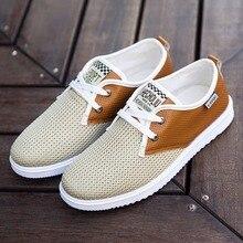 2016 heißer Verkauf Männer Sommer Schuhe Atmungsaktiv Männlichen Freizeitschuhe Mode Chaussure Homme Weiche Zapatos Hombre Sommer Herren Coole Schuhe