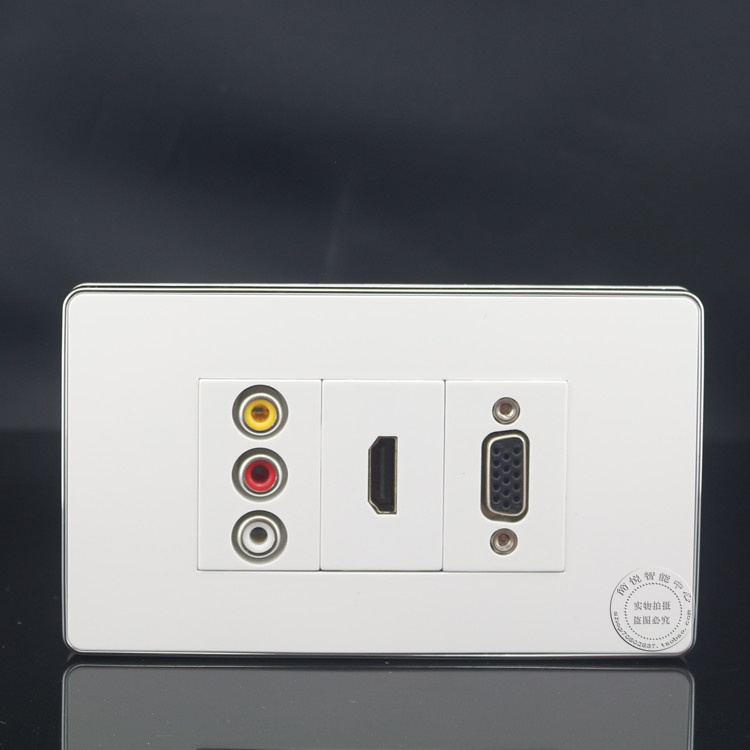 HD HDMI Port Socket Assorted Panel Faceplate  Outlet Wall Face Plate 3RCA  AV