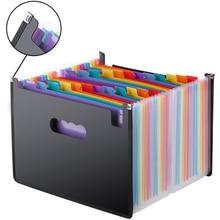 Genişleyen dosya A4 klasörü ofis okul portföy dosya klasörleri belge organizatörü plastik 24 cepler 3000 Sheets büyük kapasiteli