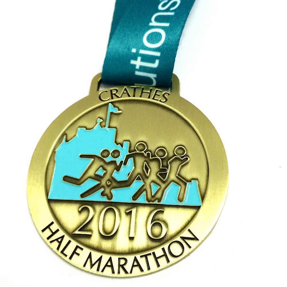 design your own medal engraved on your logo for running race