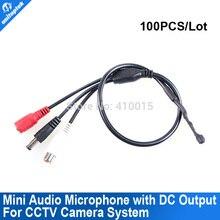 De alta Sensibilidad de Seguridad CCTV Micrófono Audio Pick Up Micrófono Para Cámara de la LEVA DVR Con Puerto de Salida de CC