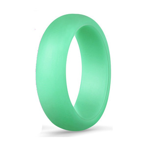 Image 3 - 1PC 5.7MM Silicone Ring Solid Black Red Blue Couples Rubber Food Grade Antibacterial Hypoallergenic FDA Sport Finger Rings Gift