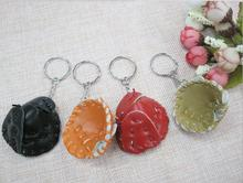 20pcs mini baseball glove keychain key ring Souvenir pendant childrens Day promotional student school AD souvenir gifts